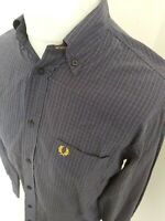Vintage Fred Perry Shirt Blue Check Gingham Small 40-42 Chest Mod Ska Casuals