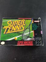 Super Tennis (Super Nintendo SNES) Complete in Box FAIR