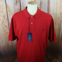 Polo Ralph Lauren Men's XXL 2XL Polo Shirt Red Solid Short Sleeve READ