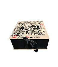 Nwt LeSportsac Alber Elbaz Medium Gift Box Storage Giftbox, 12x12x5 inches