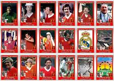 Liverpool Coupe d'Europe de Football 1981 Trading Cards