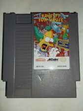Krusty's Fun House (Nintendo Entertainment System, NES, 1992) NICE LABEL