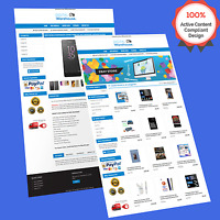 Mobile Responsive eBay Store Design & Auction Listing Template HTTPS Secur 2019