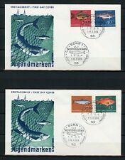 BUND Nr.412-415 ESST BONN 10.4.1964 SCHMUCK-FDC FISCHE ME 22,-++ (131099)