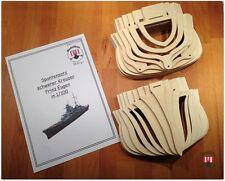Spantensatz: Prinz Eugen 1/100 aus Multiplex Birken Sperrholz