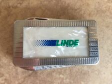 Vintage Linde Union Carbide Mother Of Pearl Pocket Knife File Money Clip Combo