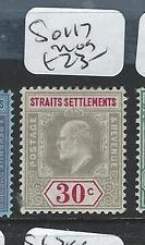 MALAYA STRAITS SETTLEMENTS (P2812B) KE 30C SG 117   MOG
