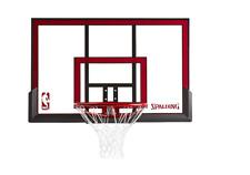 "Spalding 48"" Polycarbonite Basketball Backboard And Rim Combo Hoop Goal Net"