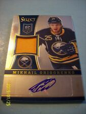 2013-14 Panini (Select) Jersey Autographed RC # 283 Mikhail Grigorenko!  032/199