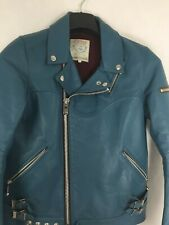 Undercover Electric Blue Biker Leather Jacket. Size: 3
