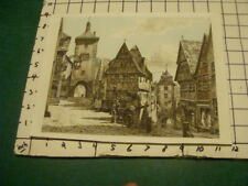 original Print: Europen town, signed and has name but bottom is cut off oddly