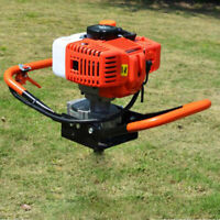 52CC 2-Stroke Gas Powered Post Hole Digger Auger Borer Drill Machine 8500RPM