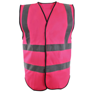 Blackrock Hi Vis Viz Hook & Loop Sticky Closure Waistcoat Vest Jacket (8030)