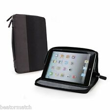 Tuff Luv Roma Faux Leather Zip Case Cover With Sleep Function for iPad Mini Black Purple I7 25