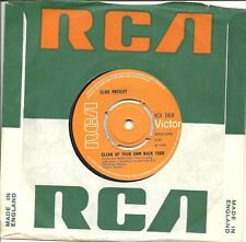 """Elvis Presley-Clean Up Your Own Back Yard-45RPM-England Import-7""""-Single-Rock-NM"""