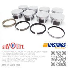 LS1 STD FLAT TOP PISTON MOLY RINGS GEN 3 V8 5.7L [HOLDEN VT-VU-VX-VY COMMODORE]