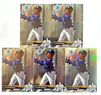 (5) JEISSON ROSARIO 2017 Bowman Chrome Prospects Refractor #238 SP /499 LOT