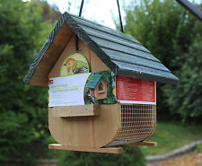 Vogelfutterstation / Vogelfutterhaus aus Holz mit Aufhängung / ca. 20 cm