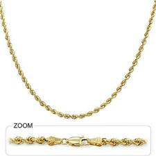 "12.10 gm 14k Yellow Solid Gold Diamond Cut Rope Women's Chain Necklace 16"" 3 mm"