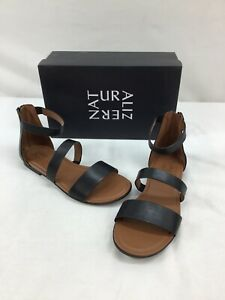 Naturalizer Tish Black Leather Strappy Sandals Size 10M M351