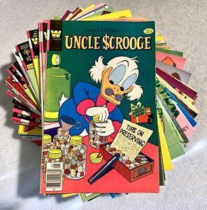 Lot (50) UNCLE SCROOGE WALT DISNEY COMICS BRONZE COPPER AGE GOLD KEY WHITMAN ++