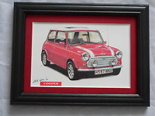 Mini Cooper RSP Commemorative Stunning Framed & Mounted Postcard **Offers**