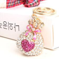 Purse Money Bag Butterfly Heart Lovely New Fashion Rhinestone Crystal KeyChain