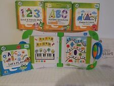 LeapFrog LeapStart Learning System with 4 Books! level 1 preschool SHAPES COLORS
