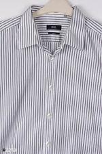 Hugo Boss Mens Long Sleeve Slim Fit Casual Shirt White Size 42