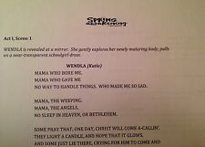 SPRING AWAKENING - Play Script for the 2015 Deaf West Production on Broadway