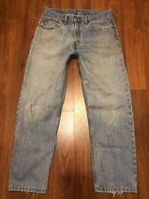 Mens Vintage Levi's 550 Distressed Stains Worn Straight Leg Blue Jeans 33x30