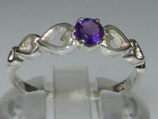 Unbranded Solitaire Amethyst Round Fine Gemstone Rings