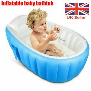 Portable Travel Inflatable Baby Kids Toddler Bath Pool Tub Blue Holiday Ball Pit
