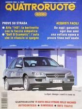 Quattroruote 466 1994 Prove su strada Alfa 145 la berlinetta. Opel Omega [Q.56]