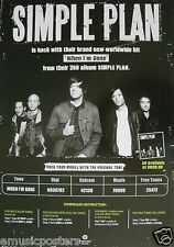 "Simple Plan ""When I'M Gone"" Malaysia Promo Poster - Alternative Pop Punk Music"