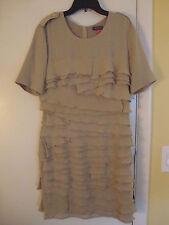 New Vince Camuto Twisted Safari Khaki Dress Size 0