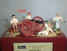 BRITAINS 17451 AMERICAN REVOLUTION MOLLY PITCHER CANNON GUN TOY SOLDIER SET