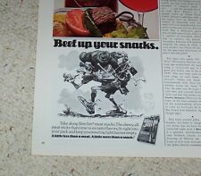 1978 ad Grenadiers cigars smoking Football KENNY STABLER & Slim Jim food art AD