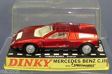 """DINKY TOYS MODEL No.224 MERCEDES BENZ C111 """"PERSPEX BOX""""  MIB"""