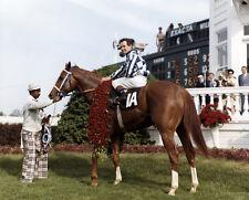 SECRETARIAT BEAUTIFUL 8X10 KENTUCKY DERBY WINNERS CIRCLE HORSE RACING PHOTO!