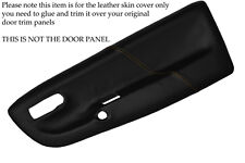 YELLOW STITCHING FITS  VW LUPO 1998-2005 2X FRONT DOOR CARD SKIN COVERS ONLY