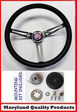 """Mercury Comet Cyclone Monterey Grant Steering Wheel Black 15"""" slotted spokes"""