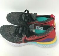 Nike Epic React Flyknit 2 Mens 9.5 M BLACK/RED Running Athletic Sneakers