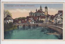 AK Sigmaringen, Schloss, Hoftheater u. Donaubrücke 1942