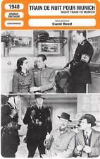FICHE CINEMA : TRAIN DE NUIT POUR MUNICH - Lockwood,Harrison,Reed 1940