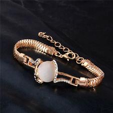 NUOVO Lusso Oro Placcato Cristallo Austriaco il design elegante Bracciale Bangle gioielli regalo