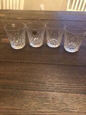 4 Crystal Scotch Glasses Czechoslovakia 24% pbo Lead
