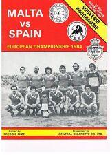 Programm Länderspiel Malta : Spanien 1983