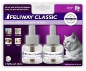 Feliway CLASSIC CAT Diffuser Refills - (1) 2 ct 48 mL - 30 Day x 2 ct (60 days)