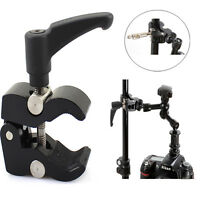 Articulating Magic Friction Arm Small Super Clamp Crab Pliers Clip DSLR Camera